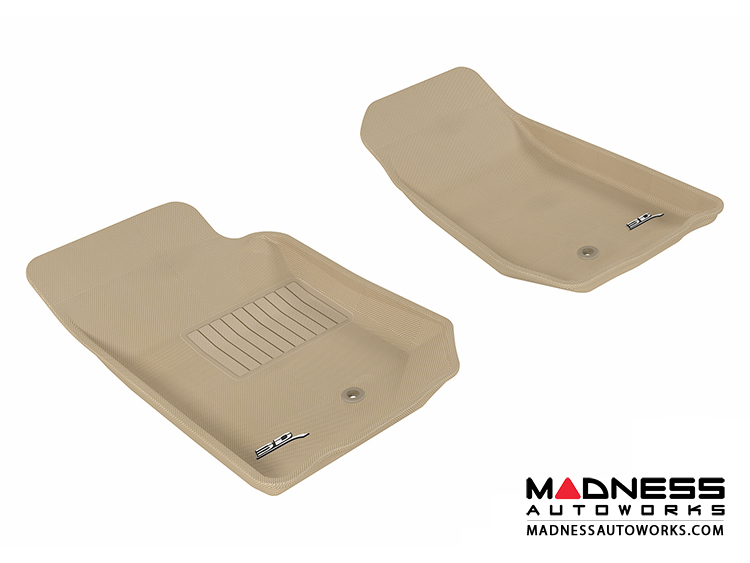 Jeep Wrangler/ Wrangler Unlimited Floor Mats (Set of 2) - Front - Tan by 3D MAXpider